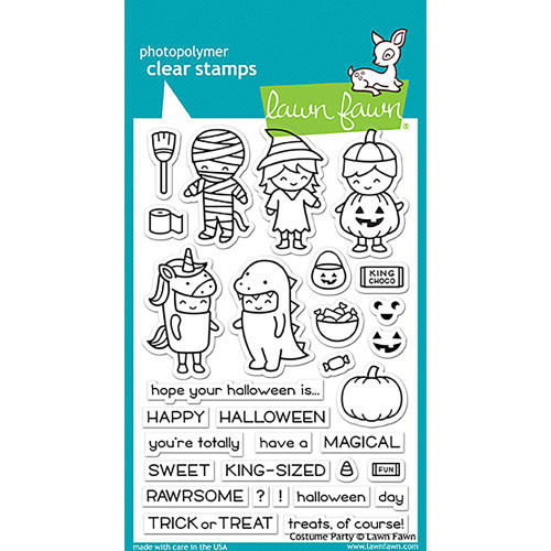 Lawn Fawn Clear Stamps - Costume Party