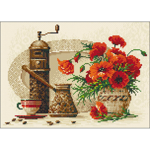 RIOLIS Diamond Mosaic Embroidery Kit - Coffee