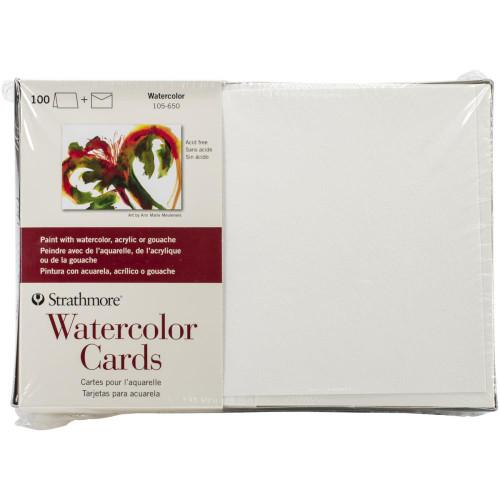 "Strathmore Cards & Envelopes 5""X6.875"" 100/Pkg - Watercolor"