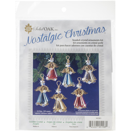 Nostalgic Christmas Beaded Crystal Ornament Kit - Gold Crystal Angels