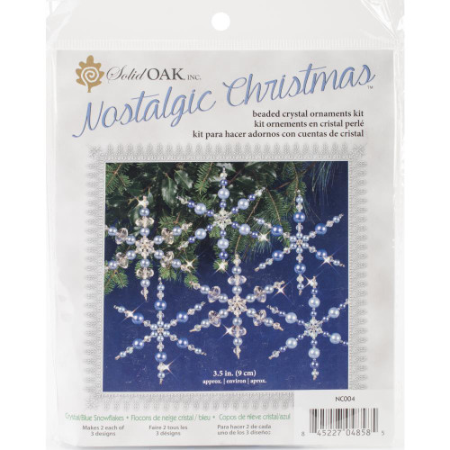 Nostalgic Christmas Beaded Crystal Ornament Kit - Blue Snowflakes