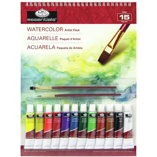 essentials™ Artist Pack - Watercolor 15/Pkg