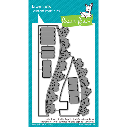 Lawn Cuts Custom Craft Dies - Little Town Hillside Pop-Up Add-On