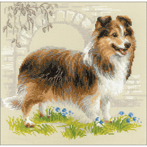 RIOLIS Counted Cross Stitch Kit - Sheltie Dog