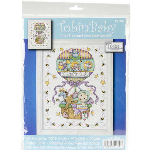 Tobin Counted Cross Stitch Kit - Balloon Ride Birth Record