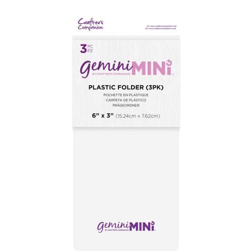 Gemini Mini Plastic Folder 3/Pkg