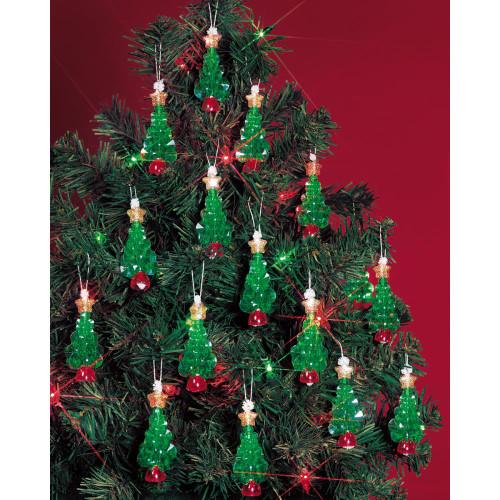 Beadery Holiday Beaded Ornament Kit - Mini Trees