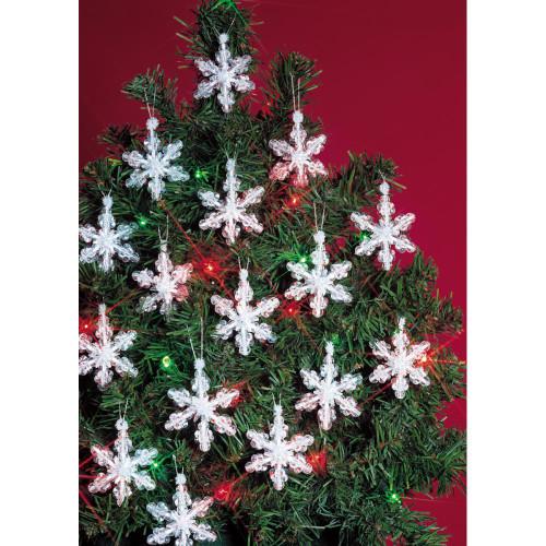 Beadery Holiday Beaded Ornament Kit - Mini Snowflakes