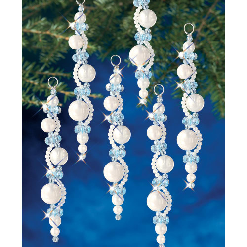 Beadery Holiday Beaded Ornament Kit - Pearl Icicles