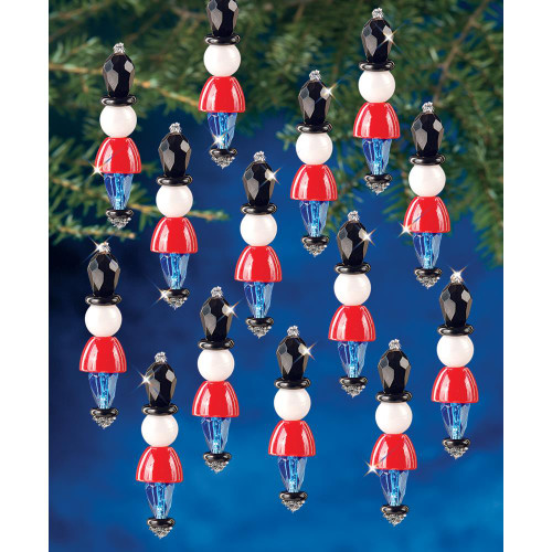 Beadery Holiday Beaded Ornament Kit - Mini Toy Soldier