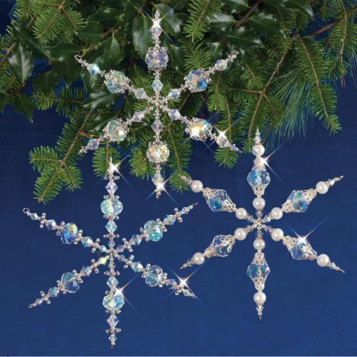 Holiday Beaded Ornament Kit - Vintage Angels & Snowflakes