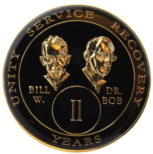 AA Tri-Plate Bill & Bob Year Coin - Black