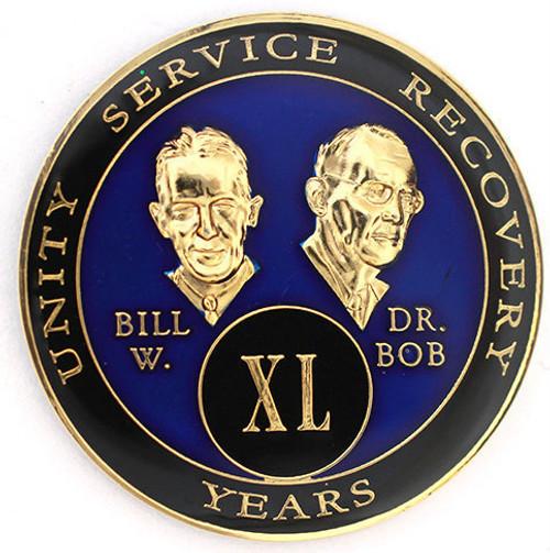 AA Tri-Plate Bill & Bob Year Coin - Blue