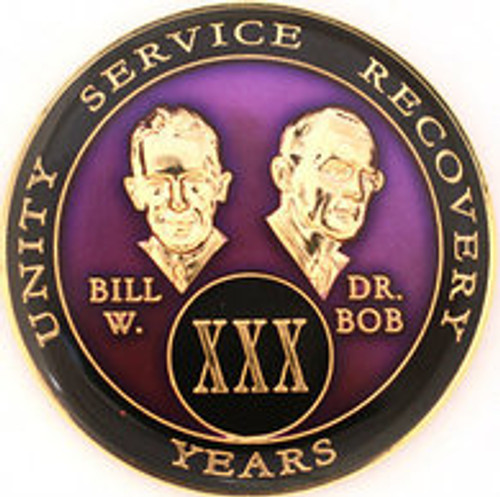 AA Tri-Plate Bill & Bob Year Coin - Purple
