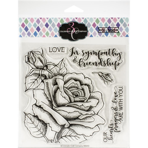 Colorado Craft Co. Clear Stamps - Sympathy & Friendship Rose