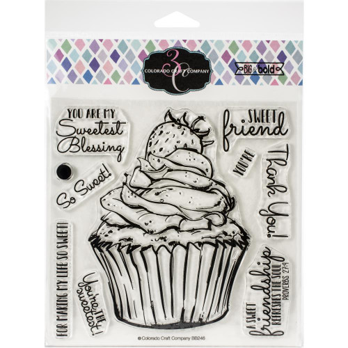 Colorado Craft Co. Clear Stamps - Sweet Friend Cupcake