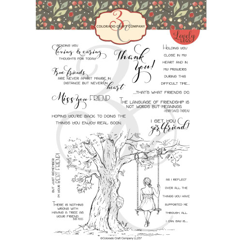 Colorado Craft Co. Clear Stamps - Reflection Tree