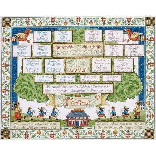 Design Works Counted Cross Stitch Kit - Family Tree