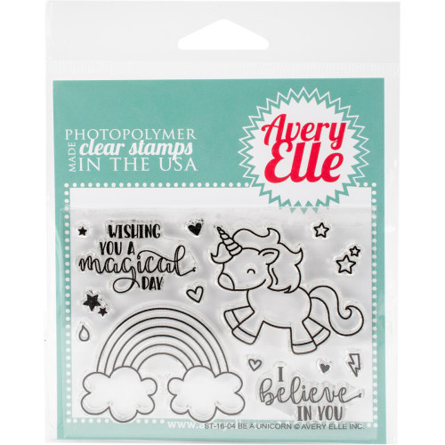 Avery Elle Clear Stamp Set - Be A Unicorn