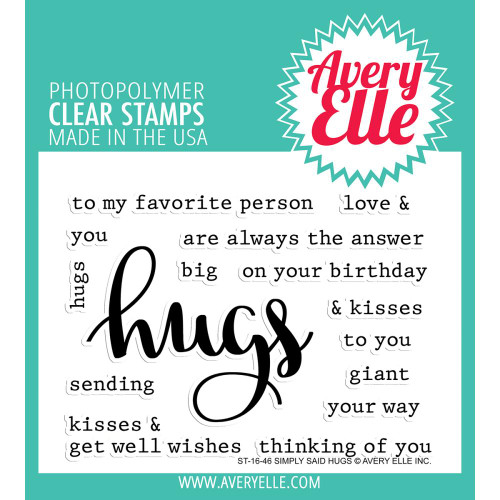 Avery Elle Clear Stamp Set - Simply Said Hugs