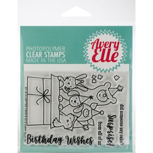 Avery Elle Clear Stamp Set - Critter Crew
