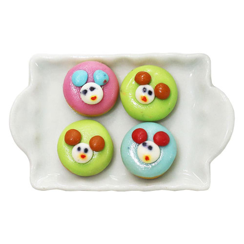 Dress My Craft Miniature - Bread Mickey Donut 4/Pkg