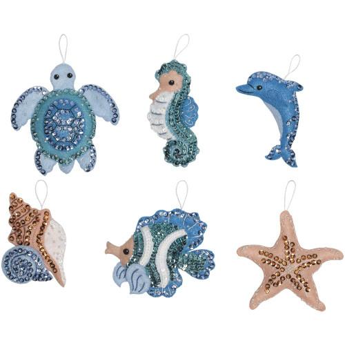 Bucilla Felt Ornaments Applique Kit -  Under The Sea