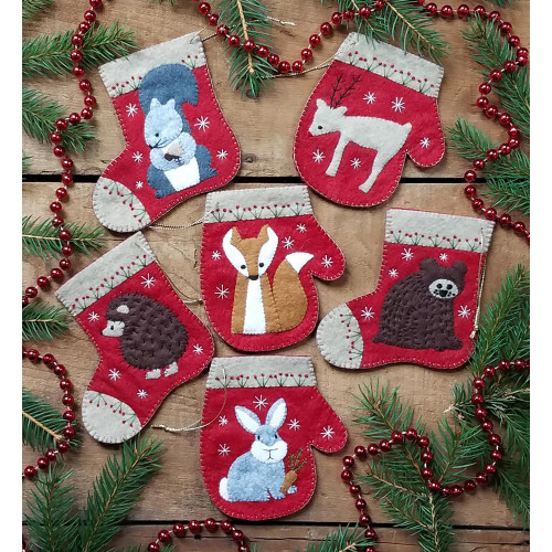 Rachel's Of Greenfield Felt Ornament Kit - Christmas Critters