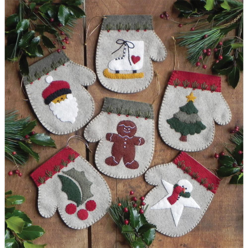 Rachel's Of Greenfield Felt Ornament Kit - Warm Hands