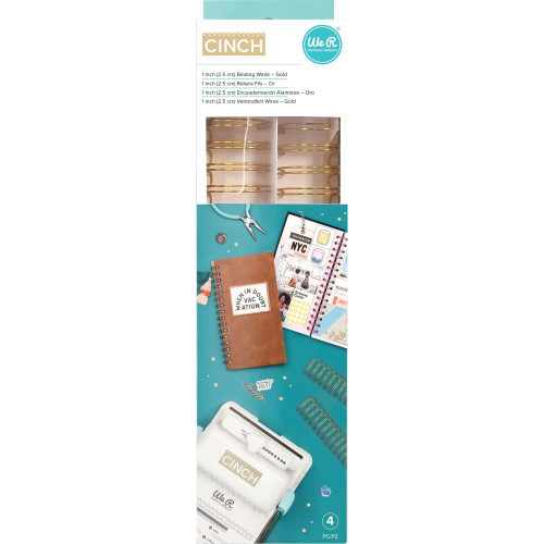 """We R Memory Keepers Cinch Wires - Gold 1"""" 4/Pkg"""