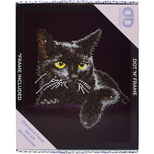Diamond Dotz Facet Art Kit W/ Frame - Midnight Cat