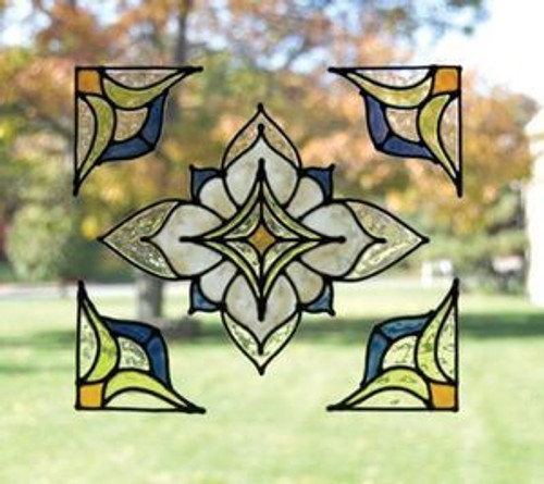 Faux Stained Glass Window Film Set