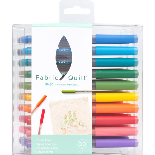 We R Memory Keepers Fabric Quill Permanent Pens 30/Pkg