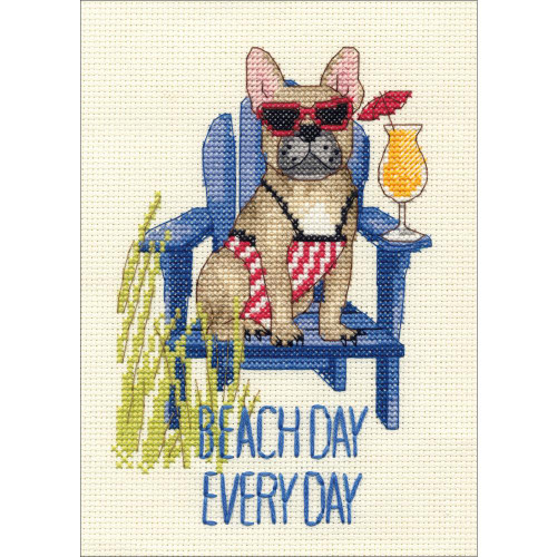 Dimensions Counted Cross Stitch Kit - Beach Day Dog