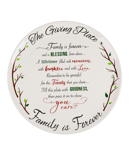 A Plateful Of Grateful - Family Giving Plate