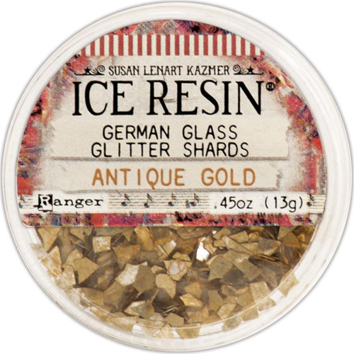 Ice Resin Glass Glitter Shards - Antique Gold
