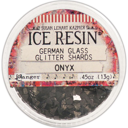Ice Resin Glass Glitter Shards - Onyx