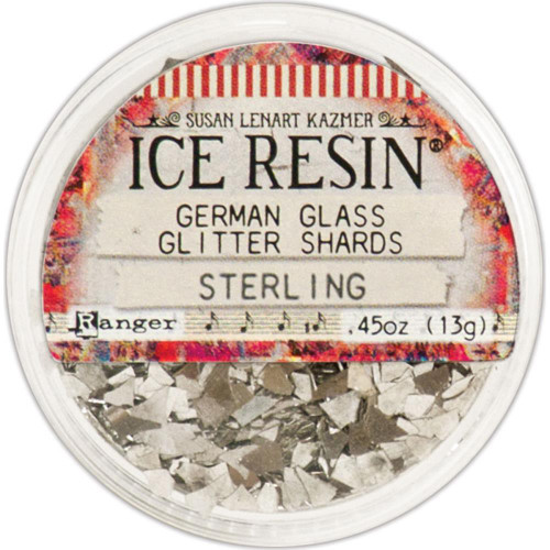 Ice Resin Glass Glitter Shards - Sterling