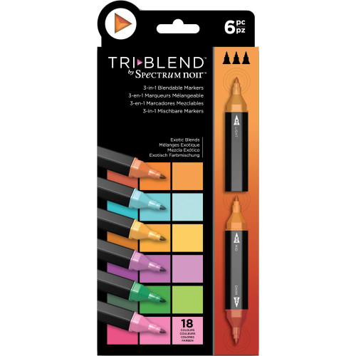 Spectrum Noir Triblend Markers 6/Pkg - Exotic Blends