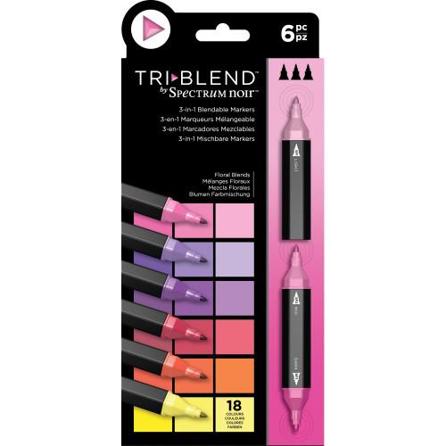 Spectrum Noir Triblend Markers 6/Pkg - Floral Blends