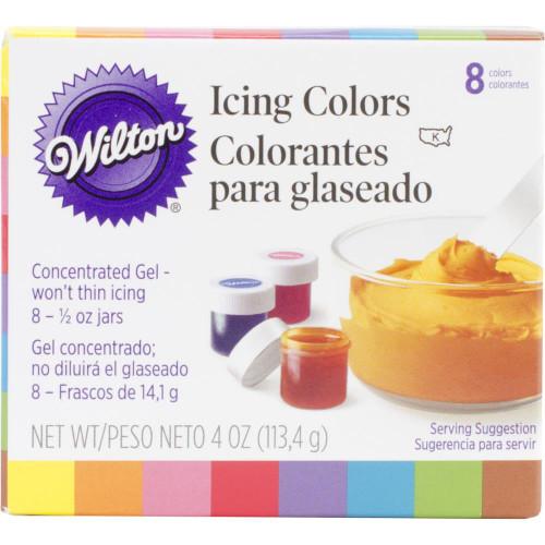 Wilton Icing Colors .5oz 8/Pkg - Assorted Colors