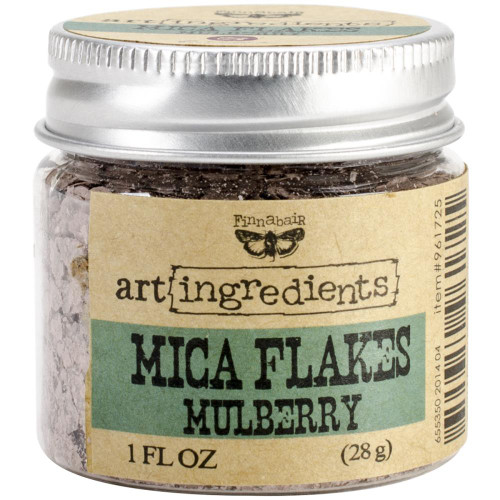Prima Marketing Finnabair Art Ingredients Mica Flakes 1oz - Mulberry