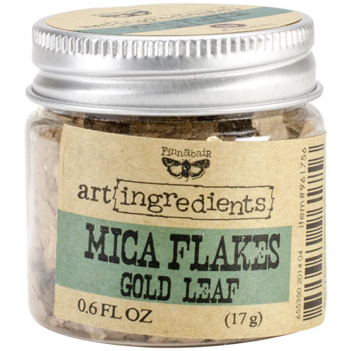Prima Marketing Finnabair Art Ingredients Mica Flakes 1oz - Golf Leaf