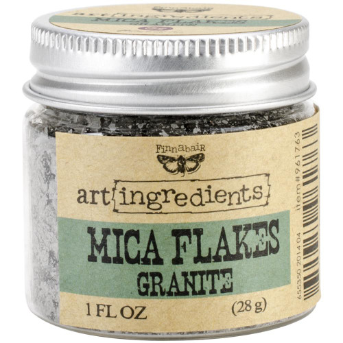 Prima Marketing Finnabair Art Ingredients Mica Flakes 1oz - Granite