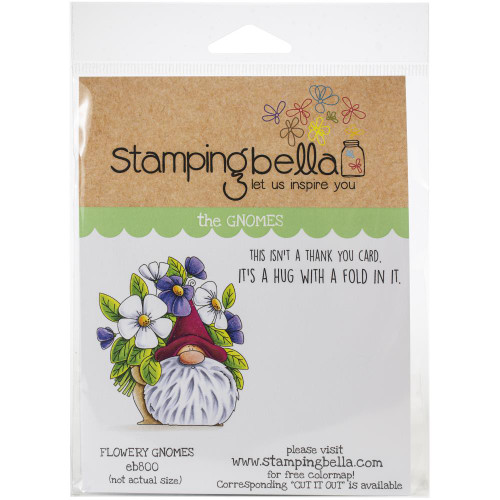 Stamping Bella Rubber Stamps - Flowery Gnome