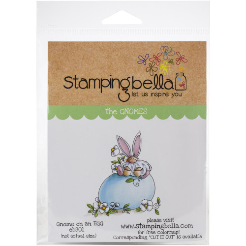 Stamping Bella Rubber Stamps - Gnome On A Egg