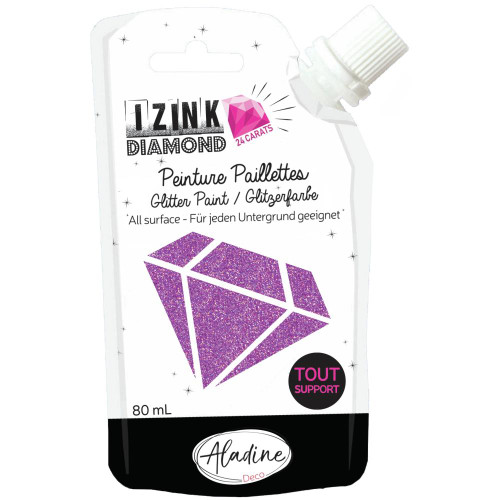 IZINK Diamond 24 Carats Glitter Paint 80ml - Peach