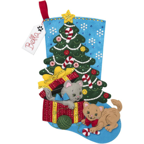 Bucilla Felt Stocking Applique Kit - The Pawfect Gift