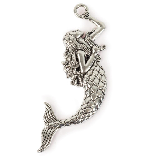 Steampunk Metal Pendant - Mermaid
