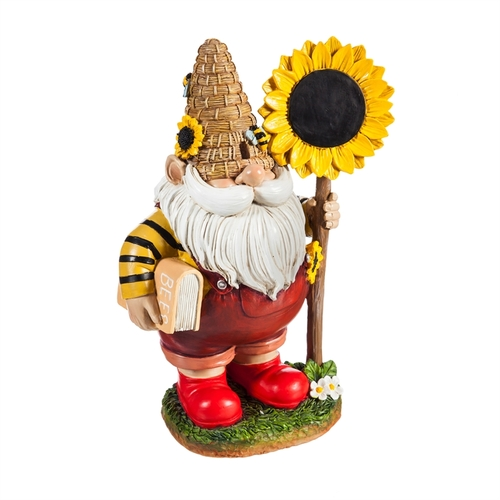 Honey Gnome with Sunflower Sign 11""